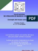 Concepto Museo Comunitario 2014