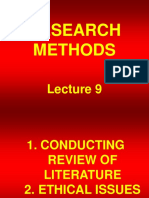 Research Methods - STA630 Power Point Slides Lecture 09