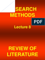 Research Methods - STA630 Power Point Slides Lecture 08