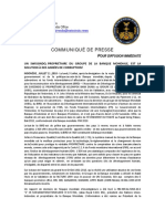 FRENCH 2018-07-11 PRESS RELEASE - UN SWISSINDO OWNER OF WORLD BANK GROUP RESOLVES YEARS OF CORRU