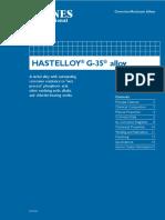 Hastelloy g 35
