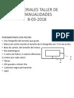 MATERIALES TALLER DE MANUALIDADES.pptx
