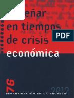 Enseñar en tiempos de crisis económica