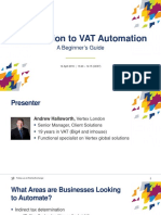Introduction to VAT Automation