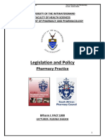 Legislation and Policy Handout