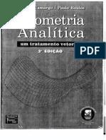 Geometria analítica 3 ed Boulos
