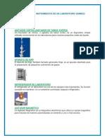 Materiales e Instrumentos de Un Laboratorio Químico