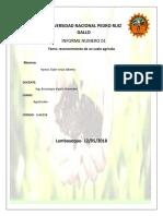 Informe 1 Reconocimiento de Un Suelo Agricola.......