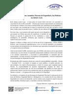 El Rol de Las FFAA, FFSS y Policias, Un Debate Vacio