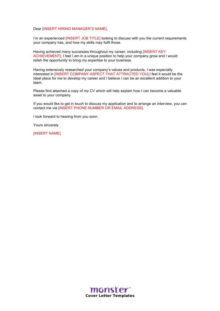 cover letter template prospective application ie