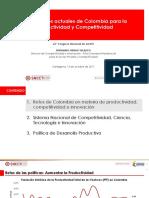 Condiciones Actuales de Colombia Para La Productividad y Competitividad