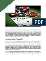 Panduan Main Poker338 Dengan Mudah.docx