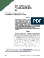 9_Implicaciones Juridicas de Los Alimentos Transgenicos en Colom