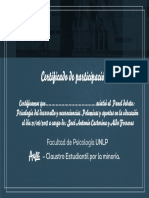Certificado de asistenca a Psicología del Desarrollo y Neurociencias Polémicas y Aportes en la Educación.pdf