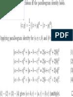 Parallelogram Identity