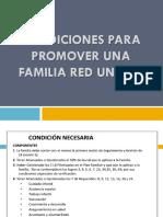 Condiciones Para Promover Una Familia Red Unidos