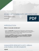 Socio-cultural Basis of Design in Communities