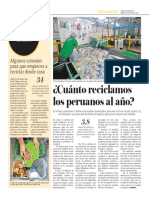 Cuánto Reciclamos Los Peruanos Al Año