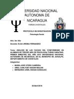 Protocolo Investigacion Psicologia Social