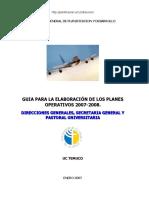 Guía Planes Operativos DG y Otros 2007-2008