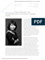 'Between Two Worlds'_ an Interview With Violinist Tianwa Yang — Vancouver Classical Music