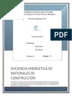 Eficiencia Energética de Materiales de Construcción