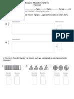 Evaluación Educación Matemáticas Fracciones 6 Basico