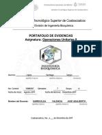 Formato Portafolio de Evidencias - Operaciones Unitarias II BQ - Dr. Jose a. Sarricolea Valencia