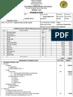 Program of Work Teacher's Table