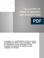 Valuation+of+Firms+in+Mergers+and+Acquisitions by Suman