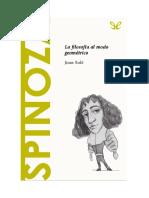 Sole Joan - Descubrir La Filosofia 20 - Spinoza La Filosofia Al Modo Geometrico.doc