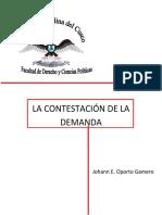 LA CONTESTACIÓN DE LA DEMANDA