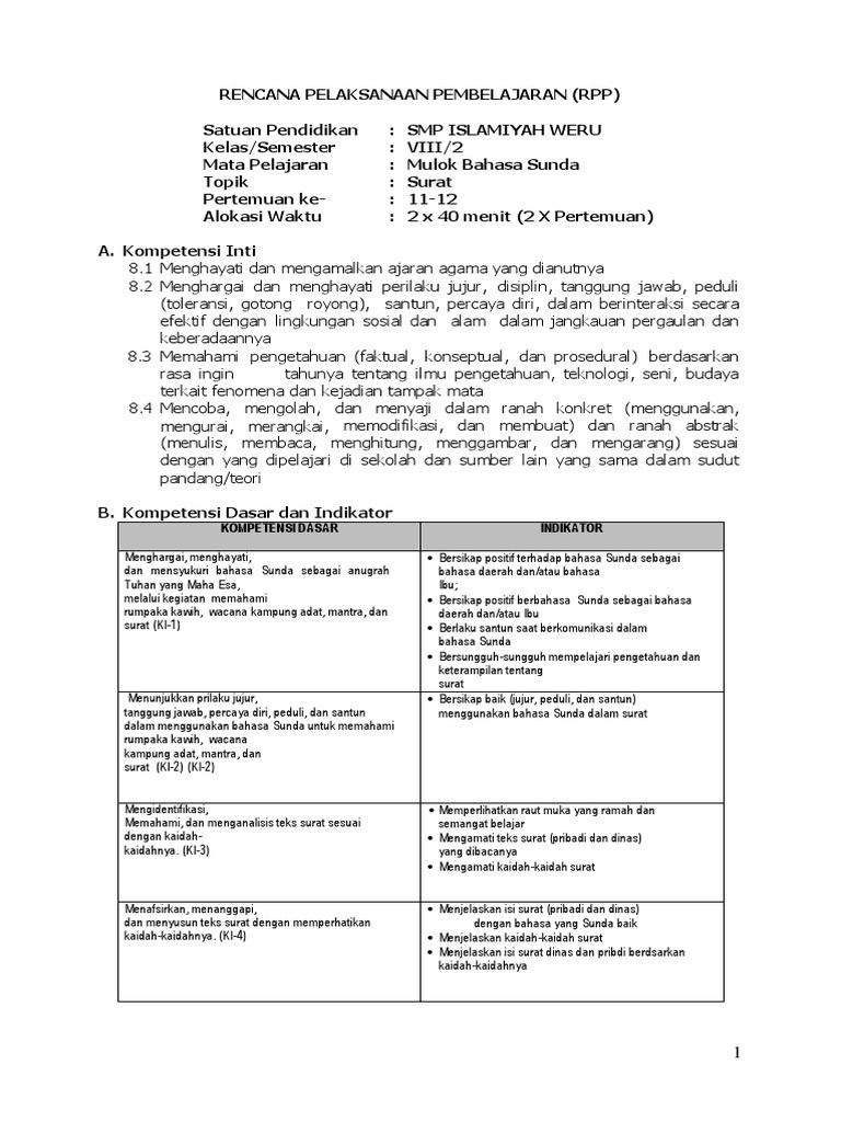 Rpp B Sunda Viii 2 Suratdocx