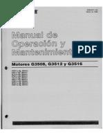 Operacion y Mantenimiento Motor Cat g3508 -g3521-g3516