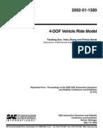 4-Dof Vehicle Ride Model