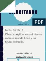 Lírica ejercicios figuras literarias