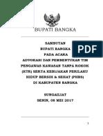 NASKAH Sambutan Bupati Advokasi GERMAS