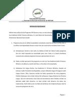 Mosaun Rejeisaun TETUM ba Programa VIII Governu Konstitusionál