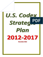 US codex strategis plan 2012 - 2017