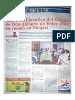 La Mesa Ejecutiva del Colegio de Odontólogos de Entre Ríos se reunió en Chajarí