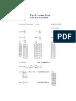 Pipe Pressure Drop Calculation Sheet