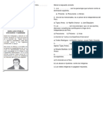 Ficha de Preguntas Proceres y Precursores Lunes 16 de Julio