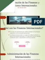 Administración Internacional de Las Finanzas y Operaciones