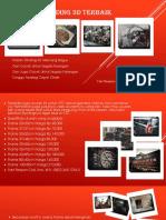 Hiasan Dinding 3D Keren Classic Fast Respon Call, Sms, WA