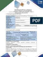 Guía de Actividades y Rúbrica de Evaluación - Fase 4 - Planeamiento Del Proyecto