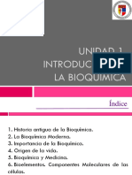 T1. Introducción a La Bioquímica (1)