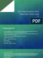 SOP Pengukuran Ante Brachial Index (Abi)