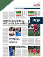 La Provincia Di Cremona 26-07-2018 - Serie B