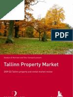 Tallinn Real Estate Market Review November 2009