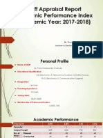 Staff Appriasal Report PBK